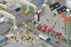 Pixel art city