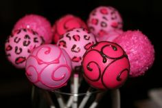 diva cake pops - Click image to find more Weddings Pinterest pins