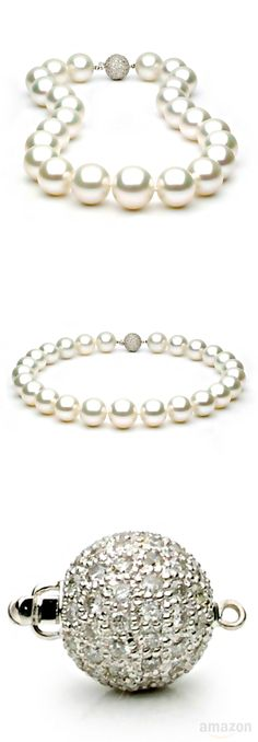White South Sea Cultured Pearl Necklace - 16-18mm, AA+ Quality, Solid 14k Gold, Princess & Matinee Length