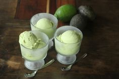 Avocado Sorbet, egg