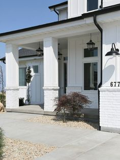 Modern farmhouse exterior porch