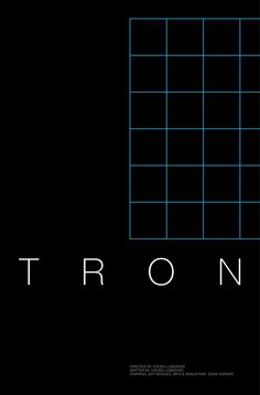 Tron (1982) ~ Minimal Movie Poster by Andrew Lynne #amusementphile