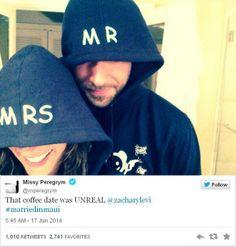 Zachary Levi and Missy Peregrym #celebritynews #celebritygossip