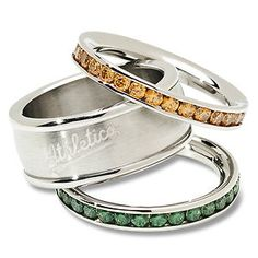Oakland Athletics Stackable Rings Stainless Steel