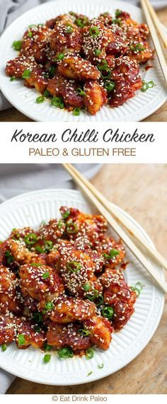 Korean Style Spicy Chicken (Paleo and Gluten-Free) | http://eatdrinkpaleo.com.au/paleo-koren-chilli-chicken-recipe/