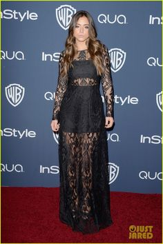 chloe bennet bella thorne instyle golden globes party 2014 01 Chloe Bennet hits the red carpet in a sheer dress at the InStyle and Warner Bros. Post-Party following the 2014 Golden Globe Awards held at the Beverly Hilton Hotel…