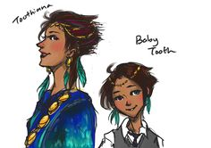 If Toothiana and Baby Tooth were made mortal again, I would picture it like this.