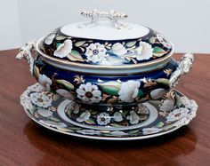 19th Century Ashworth Soup Tureen and Underplate--English