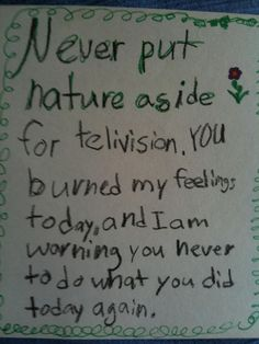 One of my favorite passive aggressive notes from a daughter to her dad when he puts off going to play outside for a football game. :) This entire website is ripe with laughs and eye rolls.