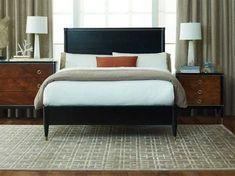 Brownstone Furniture Davenport Ebony with Whisky Eastern King Size Platform Bed