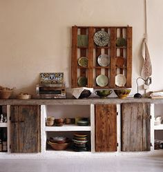 Idea: Pallet, Painted/distressed W/matchying Gallery Framed B Photos