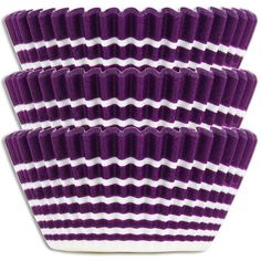 Bold Purple Ring Stripe Baking Cup Liners