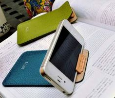 Leather iPhone Pouch Stand