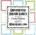 Ornamental Square Labels & dozens of other free downloads at justsomethingimade.com
