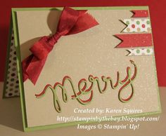 Stampin' By The Bay: Merry Christmas Card