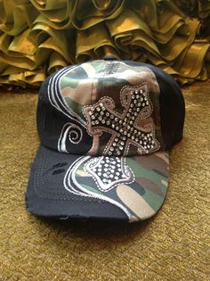 c0ed8f1f25d Misses Black and Camo Baseball Hat www.cheerstuffnmore.com. Emily Wilson ·  COOL HATS