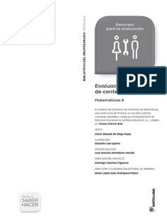 6-Matematicas-Saber-Hacer-Evaluacion-Contenidos-2015.pdf Control Social, Science, Education, Ideas Para, Avatar, World, Vestidos, Math Test, Science Comics