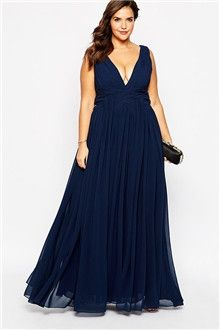 A-Line/Princess V-neck Floor-length Chiffon Bridesmaids Dress