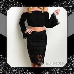 """⚡️⚡️FLASH SALE ONE HOUR ONLY REG $28⚡️⚡️ ⚡️⚡️FLASH SALE ONE HOUR ONLY NO OFFERS OR OTHER DISCOUNTS CONSIDERED DURING THIS TIME EVEN IF BUNDLED⚡️⚡️New Sexy Crochet Knee Length Skirt (TOP NOT INCLUDED) S/M/L Color: Black Material: 100% Cotton Size: 2/Medium, 2/Large Left Only Fits true to size but size up if not sure and see size info before buying Country of origin: China Measurements: Approx Medium: Length: 25"""" Waist: 28"""" Large: Length: 26"""" Waist: 30"""" Glam Squad 2 You Skirts"""
