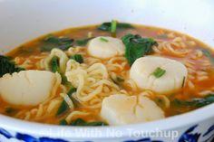 Korean Style Scallops Ramen Soup