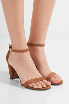 Stuart Weitzman - Nearlynude Suede Sandals - Light brown - IT40.5