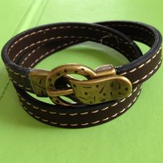 Unisex Double Wrap Leather Bracelet by joytoyou41 on Etsy, $33.00