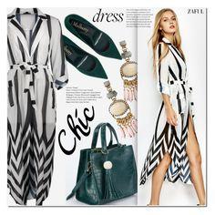 """""""Striped shirt dress"""" by duma-duma ❤ liked on Polyvore"""