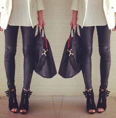 white blazer + skinny black pants  visit www.corphaus.com.au for corporate fashion