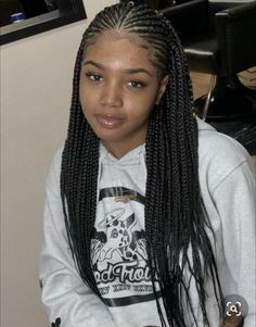 Box Braids Hairstyles, Braided Hairstyles For Black Women Cornrows, Braids Hairstyles Pictures, Braids Wig, Baddie Hairstyles, Braids For Black Hair, African Hairstyles, Medium Hairstyle, Black Cornrow Hairstyles