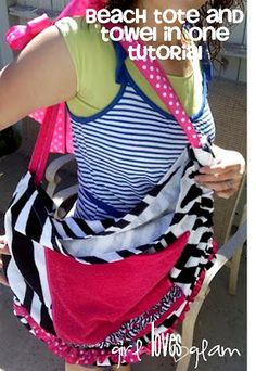 Beach Bag and Towel all in 1 TUTORIAL! - Girl Loves Glam
