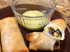 What's for Dinner?: Southwestern Egg Rolls with Avocado Ranch Dipping Sauce