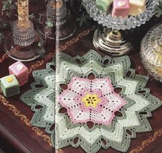 Chevron Doily Crochet Pattern  Cheerful by PaperButtercup on Etsy, $4.00