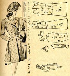1940s () Coat Wiener Frauenzeitung Nr 5 No 559