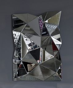 New Medium Multi Faceted Wall Mirror for 2013
