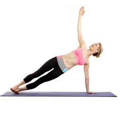 Get strong, slim arms with yoga! Make traditional planks more challenging by doing side planks. | Health.com