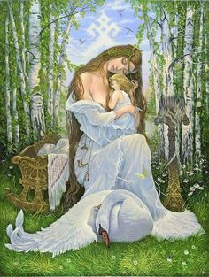 Goddess Lada - Lada or Lado is the name of a Slavic deity of harmony, merriment, youth, love and beauty. Fantasy Kunst, Fantasy Art, Wicca, Magick, Pier Paolo Pasolini, Divine Mother, Sacred Feminine, Emblem, Illustrations