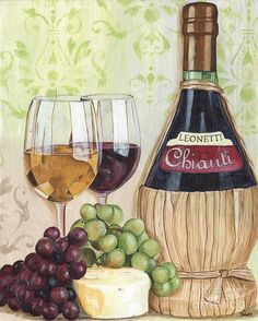 Chianti And Friends Painting  - Chianti And Friends Fine Art Print