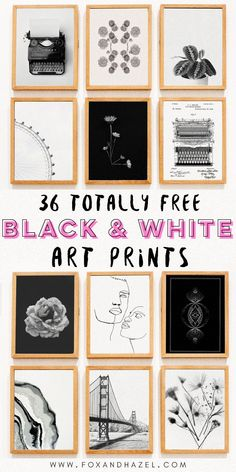 36 Free Black & White Art Prints for Your Home! 36 Free Black & White Art Prints for Your Home! Printable Gallery Walls 36 Free black & white art prints for your gallery wall,. Free Art Prints, Wall Art Prints, Wall Art Posters, Bedroom Prints Wall, Modern Art Prints, Modern Wall Art, Diy Wall Art, Wall Art Decor, Cool Wall Art
