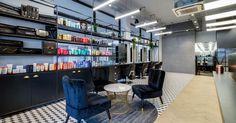 Our latest salon fit out for Hare & Bone salon in Esher, Surrey. Reis design created the salon interior design Retail Interior Design, Monochrome Color, Spa Design, Urban Industrial, Architectural Features, Hare, Relax, Architecture, Arquitetura