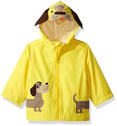 London Fog Baby Toddler Boys Little Animal Jersey Lined Jacket Yellow Doggy ** Continue to the product at the image link. (This is an affiliate link) Baby Boys, Toddler Boys, Line Jackets, Baby Boy Outfits, Zip Ups, Ears, Rain Jacket, Image Link, Windbreaker