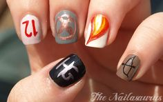 Hunger Games Nail Art! I will be attempting this, or atleast showing the woman who does my nails this pic so she can do it lol
