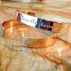 Name Stamped Metal Bracelet  Custom Hand by BlueCornerCreasigns
