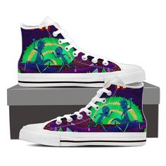 Rick And Morty Women's High Top Canvas White Shoes