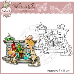 Whiff of Joy Rubber Stamp - Infront of the Christmas Chimney ...