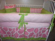 Watkins, When Everett graces us with her presence? Baby Crib Sets, Baby Box, Baby Cribs, Pink Giraffe, Giraffe Print, Crib Bumpers, Pink Bubbles, Celebrate Life, Bubble Gum