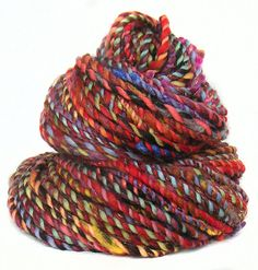 Handspun handdyed yarn Merino wool silk and by FeltStudioUK