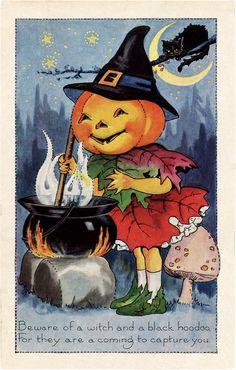Halloween Pumpkin Witch Image