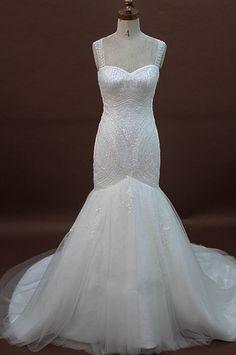 Beaded Sweetheart Mermaid Wedding Dress With by IDoCoutureBridal