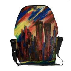I LOVE New York ART bag Messenger Bag @Shea Hovey Bagworks