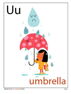 """U is for umbrella""  from Steve Mack's alphabet book"